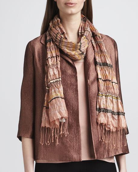Scoop-Neck Silk Shell, Women's