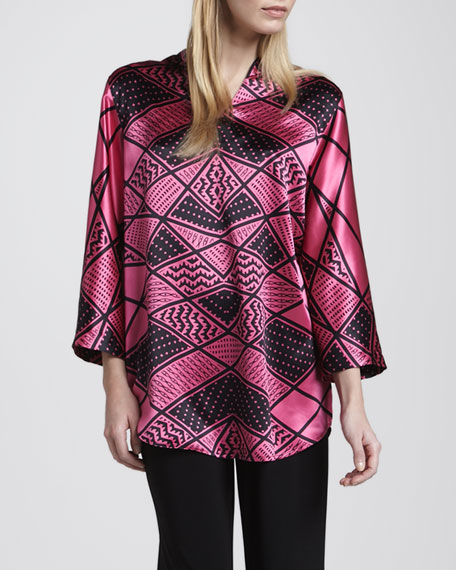 Deco-Print Silk Tunic, Women's