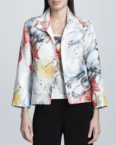 Paint Splash Boxy Jacket, Petite