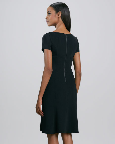 Georgia Short-Sleeve Flounce Dress