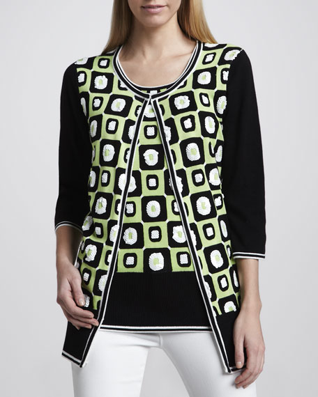 Boxed In Sequined Cardigan, Petite