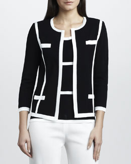 Misook Milano Jacket with Piping