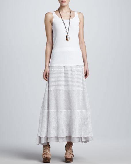 Linen Lace Long Skirt, Petite