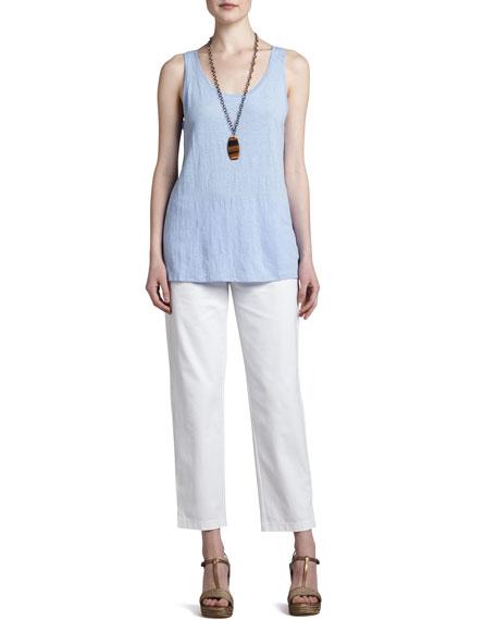 Organic Cotton Slim Ankle Pants, Women's