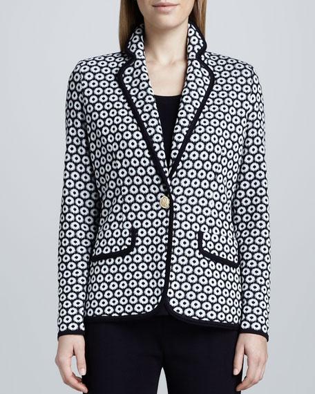 Camille Geometric Knit Jacket, Women's