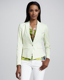 Elie Tahari Minka One-Button Jacket