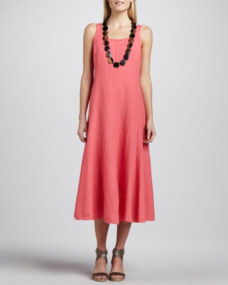 Handkerchief Long Linen Dress, Women's