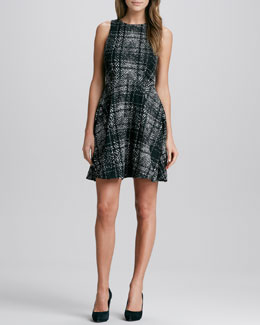 4.collective Flirty Plaid A-Line Dress
