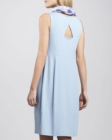 Jersey Knee-Length Oval Dress, Petite