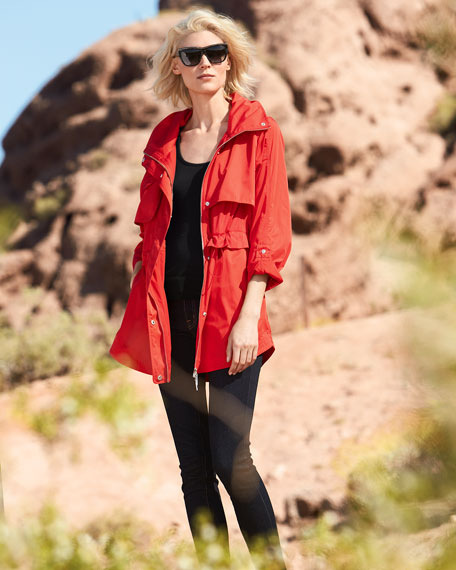 Packable Mid-Length Anorak Jacket