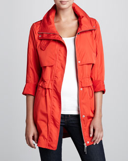 Coatology Packable Mid-Length Anorak Jacket