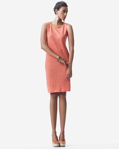 Striped Shift Jersey Dress, Petite