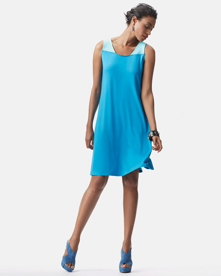 Colorblock Jersey Dress, Women's