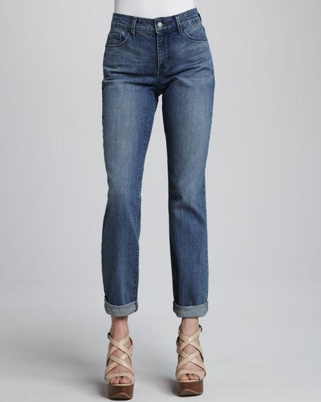 Tanya Boyfriend Rolled-Cuff Jeans, Women's