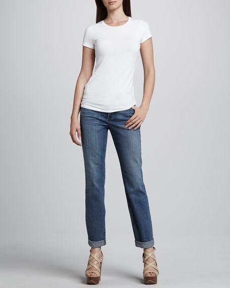 Tanya Boyfriend Rolled-Cuff Jeans, Manchester