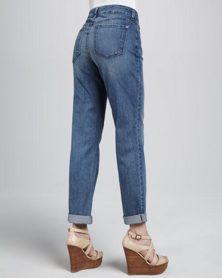 Tanya Boyfriend Rolled-Cuff Jeans, Petite