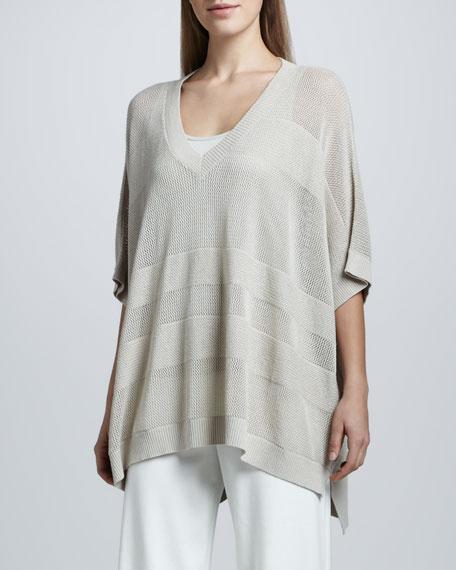 Oversized Mesh-Jersey Sweater, Women's
