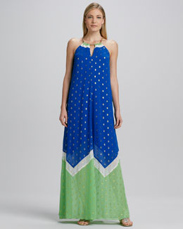 Lilly Pulitzer Winnie Halter Maxi Dress