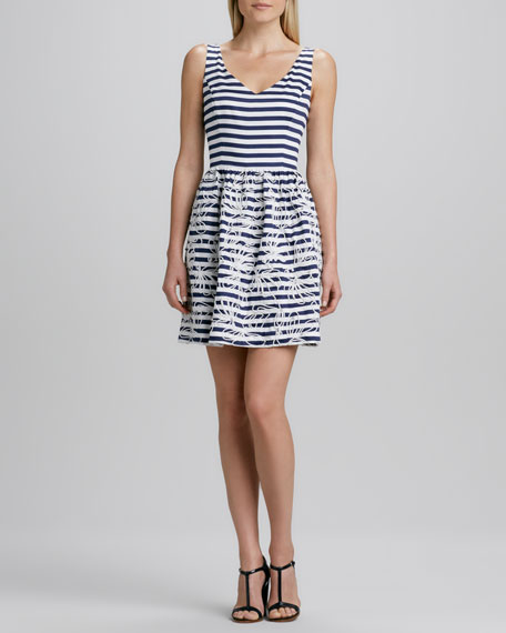Rosewell Sleeveless Striped Dress