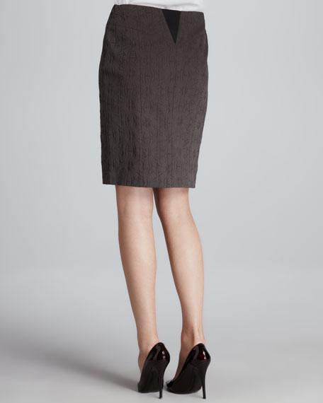 Aurelia Textured Pencil Skirt