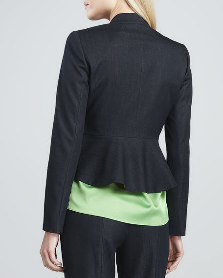 Bernice Snap-Front Cropped Jacket