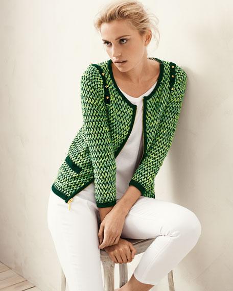 Textured Zip-Front Jacket