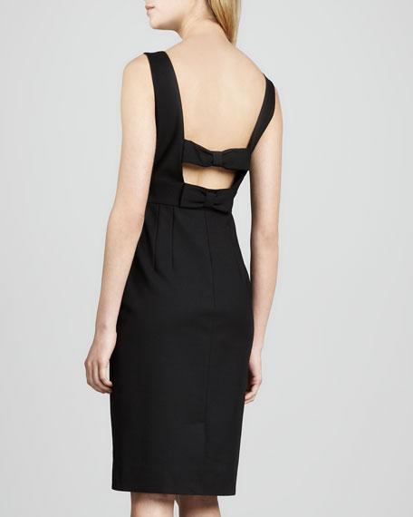 joyann sleeveless bow-back dress