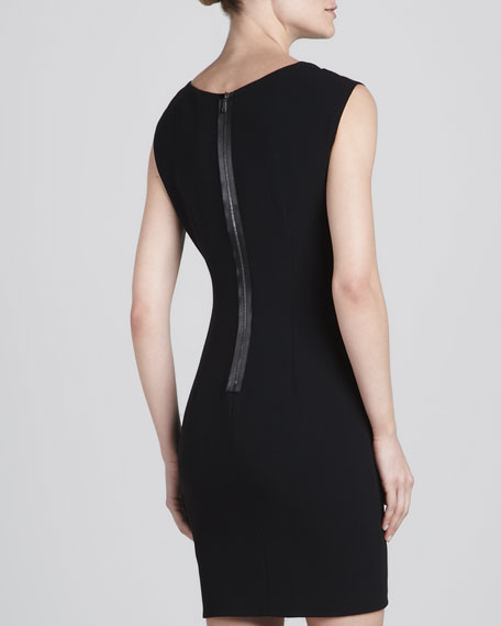 Brinson Asymmetric-Neck Dress