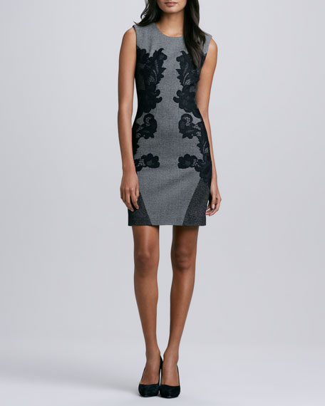 Pentra Mini-Woven Jacquard Jersey Dress