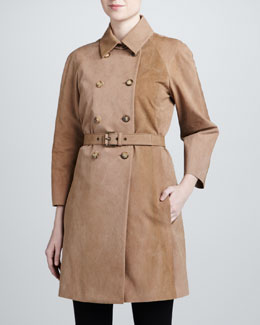 Michael Kors Double-Breasted Trench, Clay