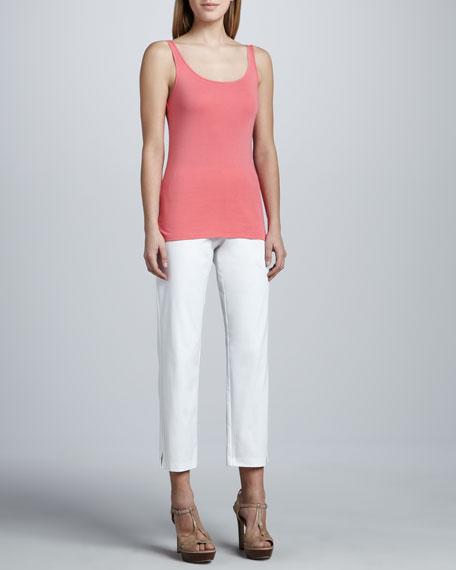Organic Cotton Slim Ankle Pants, Petite