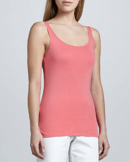 Eileen Fisher Organic Cotton Long Tank, Petite