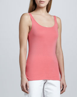 Eileen Fisher Organic Cotton Long Tank, Women's
