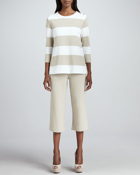 Cropped Stretch Pants