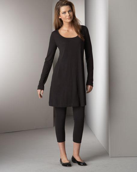 Cropped Jersey Leggings, Women's