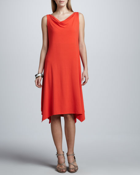 Cowl-Neck Dress, Petite