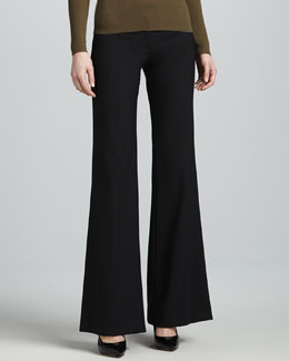 Michael Kors Bianca Stretch Pants, Black
