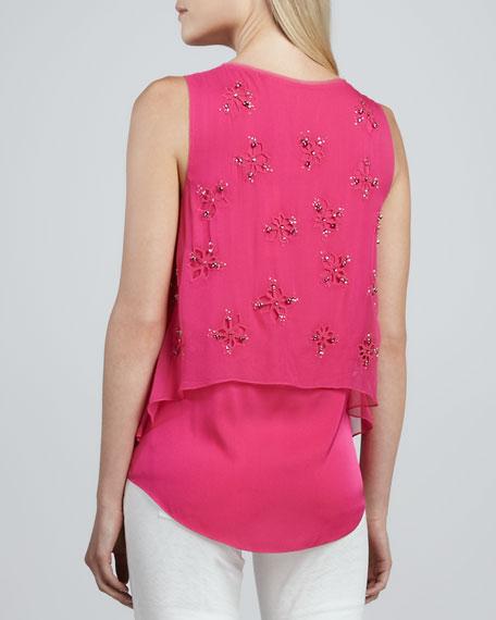 Percey Embellished V-Neck Blouse