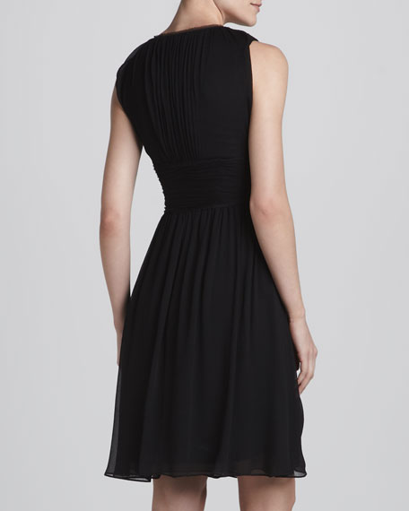 Elie Tahari Marietta Chiffon Cocktail Dress