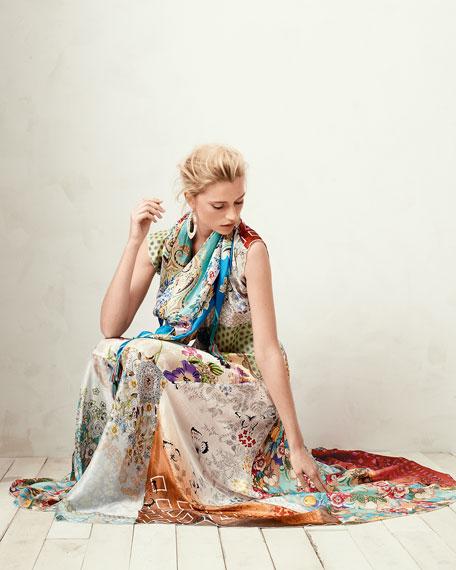 Prudence Silk Printed Maxi Dress, Women's