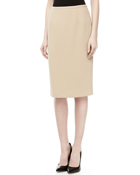Wool Pencil Skirt, Khaki
