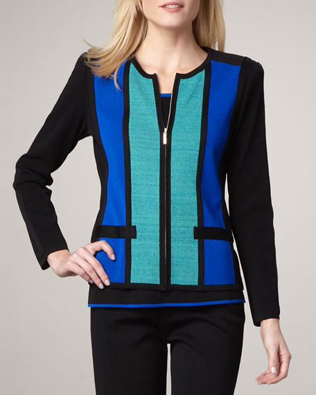 Striped Zip Jacket