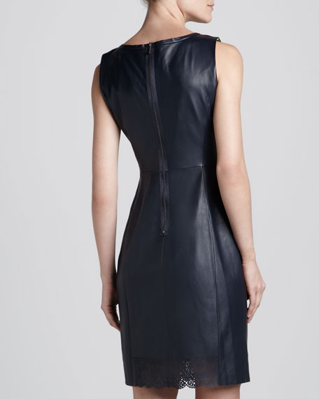 Ketrina Leather-Cutout Dress