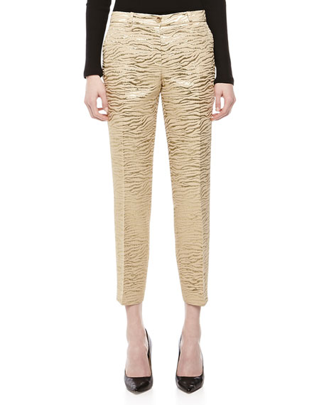Zebra Brocade Samantha Pants