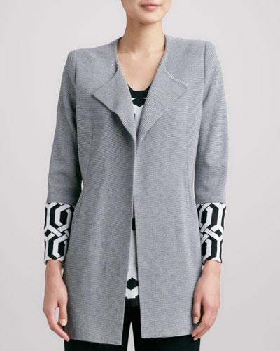 Misook Elsa Trellis-Cuff Coat