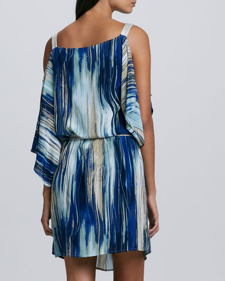 Whitney Brushstroke-Print Dress