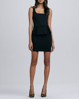 Robbi & Nikki Peplum-Skirt Pencil Dress, Black
