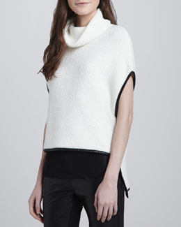 Robbi & Nikki High-Low Turtleneck Pullover