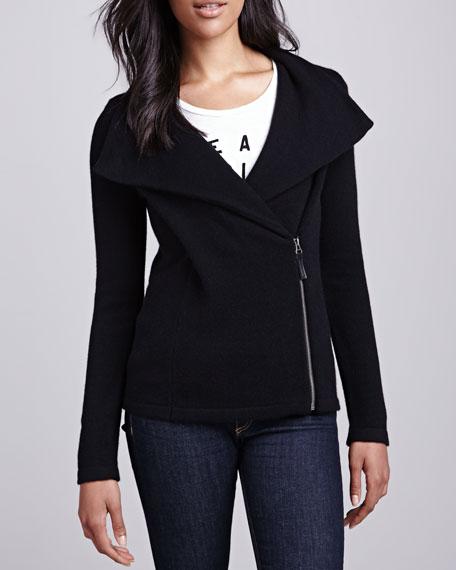 Cashmere Moto Sweater Jacket