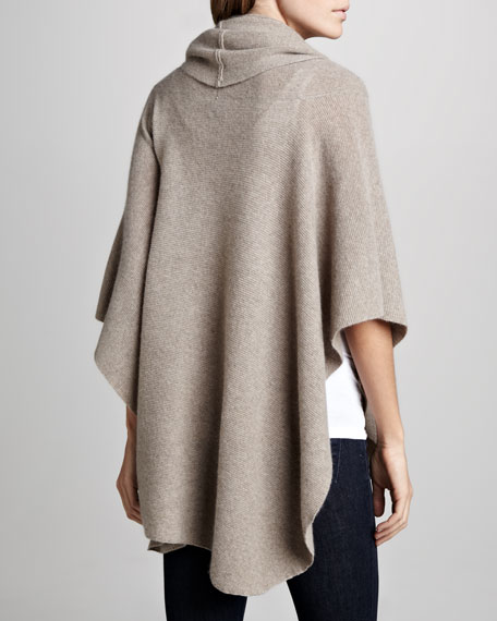 Heather Cashmere Draped Poncho